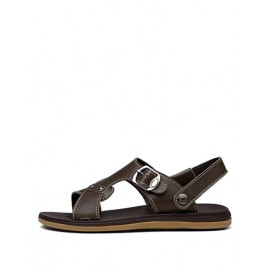 Casual Sling Back Solid Color Sandals with Buckle Trim