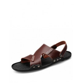 Cool Open Toe Sling Back Antiskid Sandals with Stitching