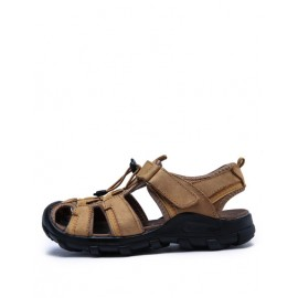 Summery Beach Mesh Panel Closure Sandals with Mock Strap