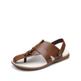 Summery Beach Flip Flop Utility Sandals with Sling Back