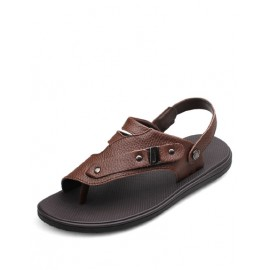 Trendy Sling Back Metallic Buckle Sandals with Flip Flop