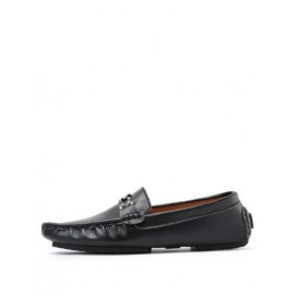 Trendy Metallic Trim Stitching Trim Loafers with Square Toe