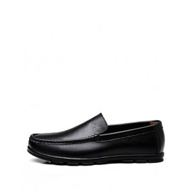 Casual Stitching Trim Stripe Trim Loafers with Square Toe