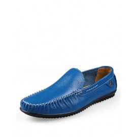 Comfortable Stitching Trim Loafers with A Ornament