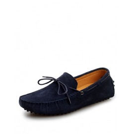 Fashionable Ruched Trim Loafers with Bowknot Design