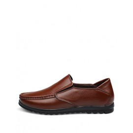 Cozy Solid Color Square Toe Loafers with Stitching Trim