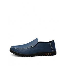 Faddish Stitching Trim Loafers with Pointy Toe