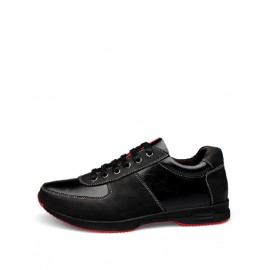 Sportive Stitching Trim Antiskid Sneaker in Black