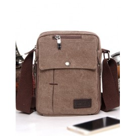 Classic Design Snap Button Zip Crossbody Bag For Men