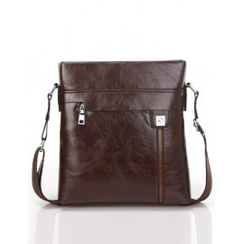 Classic Concealed Zip Design Crossbody Bag For Men