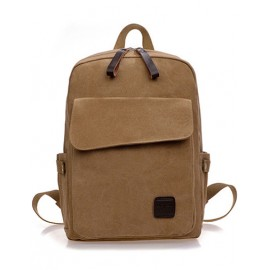 Preppy Style Flap Pocket Design Backpack For Men