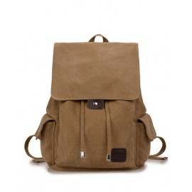 Retro Style String Pocket Design Flap Backpack