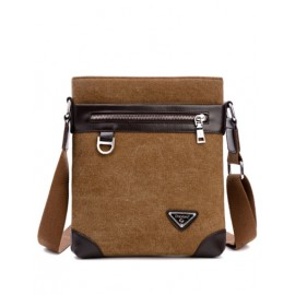 Casual PU Panel Zip Trim Crossbody Bag For Men