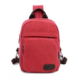 Smart Concealed Zip Pocket Design Backpack with Spring Hook