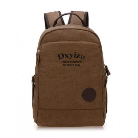 Retro Preppy Style Letter Print Backpack For Men