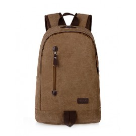 Retro Preppy Design Concealed Zip Backpack For Men