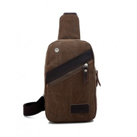 Special Slanted Zip Functional Bag For Men