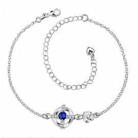 A035-AFree Shipping New Design Large Stock Delicate Handmade Cheap Silver Plated Anklet Bulk Sale