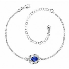 A005-A Free Shipping New Design Large Stock Delicate Handmade Cheap Silver Plated Anklet Bulk Sale