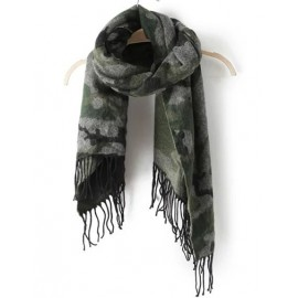 Camouflage Style 180CM All Matched Tassel Scarf
