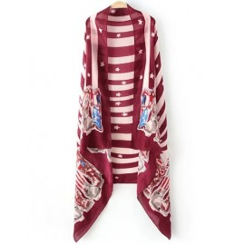 Attractive 185CM Stripe Star Print Scarf