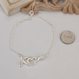 A002 Free Shipping New Design Large Stock Delicate Handmade Cheap Silver Plated Anklet Bulk Sale