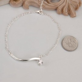 A012 Free Shipping New Design Large Stock Delicate Handmade Cheap Silver Plated Anklet Bulk Sale