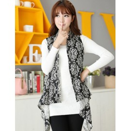 Refined Porcelain 130CM Monochrome Multi Way Long-Wearing Scarf