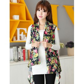 Garden Crop 130CM Tropical Floral Motifs Multi Way Long Scarf