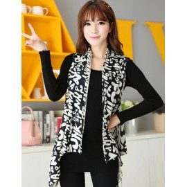 Fashion Monogrammed 130CM Monochrome Multi Way Long-Wearing Scarf