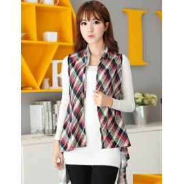 Classic Style 130CM Checkered Pattern Multi Way Long-Wearing Scarf