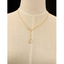 Laconic Number 8 Heart Pendant Necklace in Gold