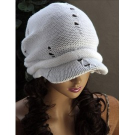 Gentlewomanly Brim Design Newsboy Cap with Hollowed Hole For Women