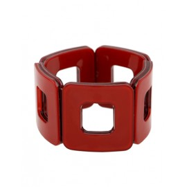 Unique Square Hollow Out Wide Bracelet For Women