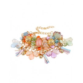 Seduction Multicolor Bead Inlay Tassel Style Bracelets