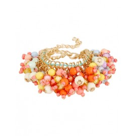 Brighten Overall Bead Inlay Chain Bracelets For Women