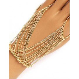 Styling Multi Tassel Trim Ring Design Bracelet in Gold