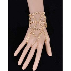 Vogue Layered Metallic Chain Bracelet in Gold