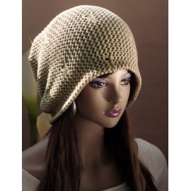 Faddish Convertible Wear Knitted Beanie Hat with Non-Brim For Women