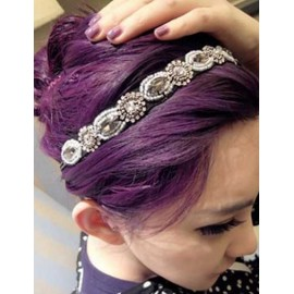 Luxury Glitter Gem Inset Rhinestone Detail Hairwrap in Black