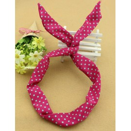 Sweet Green Mino Dots Rabbit Earring Hair Band in Two Tone