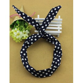 Villatic Twist Rabbit Hair Band in Two Tone