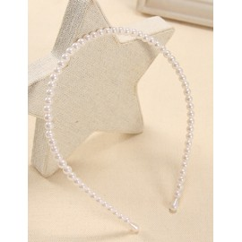 Japanese Beads Overall Hair Band in Ivory