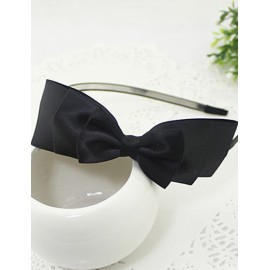 Girlish Ladyered Bowknot Trim Hair Band in Solid Color
