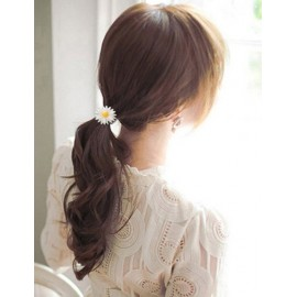 Korean Candy Color Daisy Floral Design Hair Tie