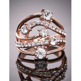 Enchanting Layered Rhinestone Overall Detail Ring
