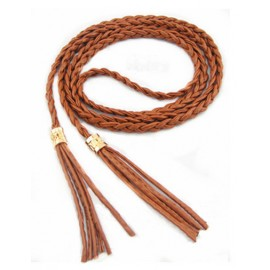 Prevalent Woven Slender Belt with Tassel Ornament For Women