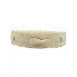 Sweetest Bowknot Decorated Waist Belt with Hollowed Petal For Women