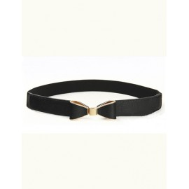 Sophisticated Slender Waist Belt with Bowknot Buckle For Women