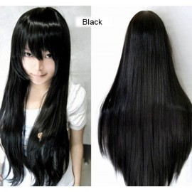 New Fashion Women Long Straight Cosplay Bright Color Wig High Quality Hotsale
